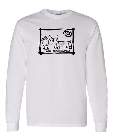 Welsh Corgi Pembroke - Cavern Canine - Long Sleeve T-Shirt