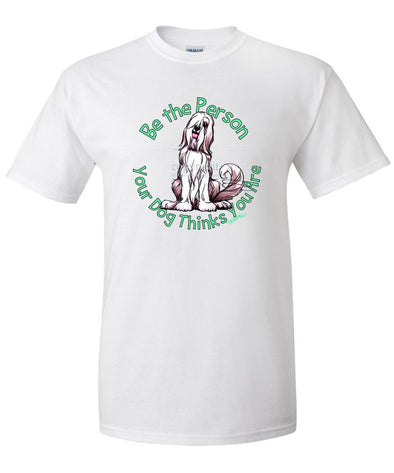 Bearded Collie - Be The Person - T-Shirt