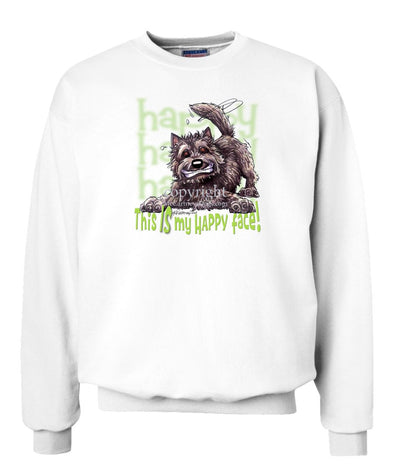 Cairn Terrier - 2 - Who's A Happy Dog - Sweatshirt