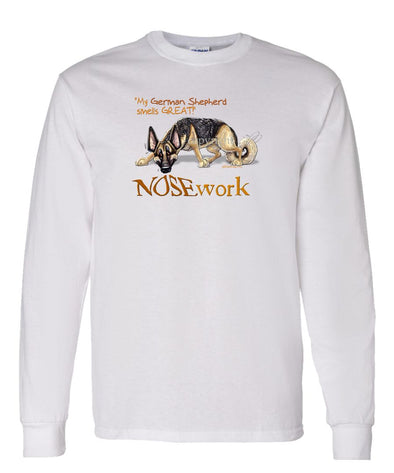 German Shepherd - Nosework - Long Sleeve T-Shirt