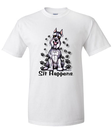 Schnauzer - Sit Happens - T-Shirt