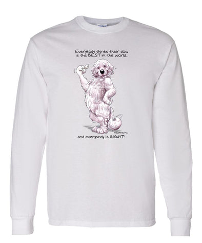 Great Pyrenees - Best Dog in the World - Long Sleeve T-Shirt