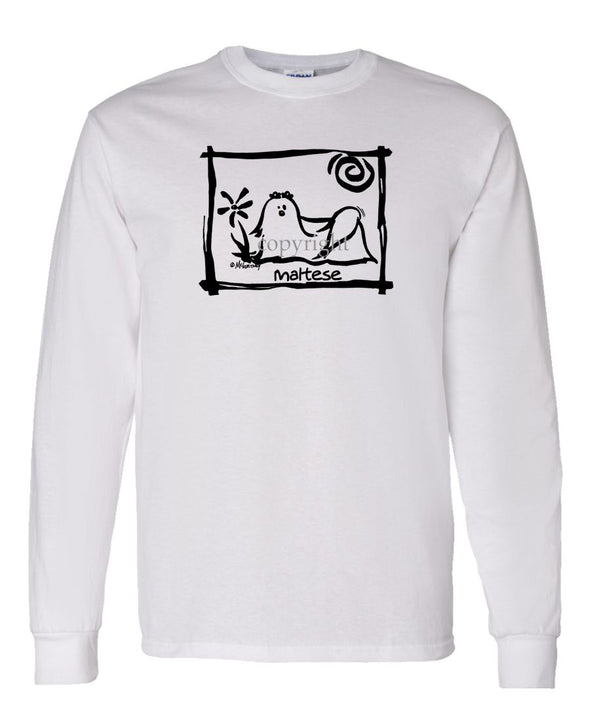 Maltese - Cavern Canine - Long Sleeve T-Shirt