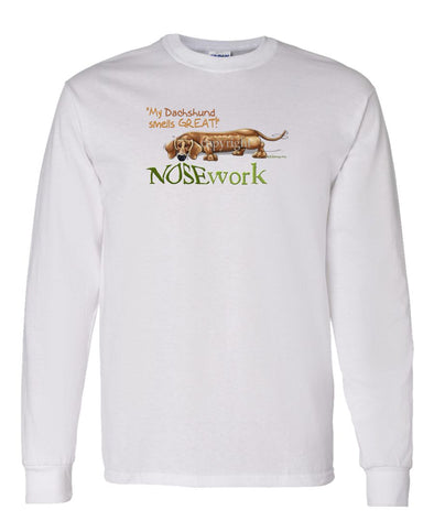 Dachshund - Nosework - Long Sleeve T-Shirt