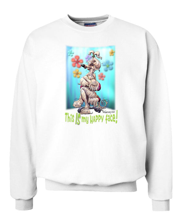 Afghan Hound - 2 - Who's A Happy Dog - Sweatshirt