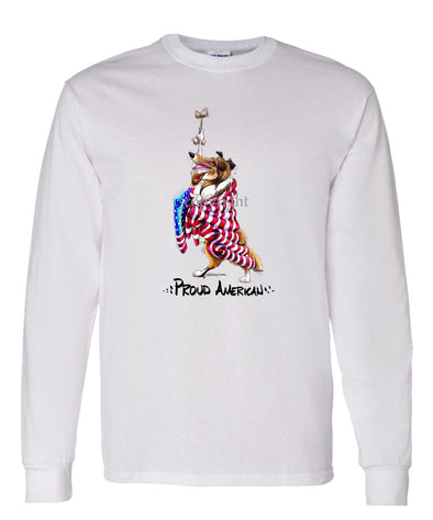 Collie - Proud American - Long Sleeve T-Shirt