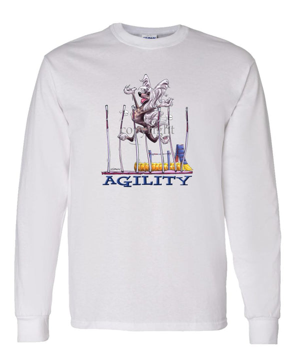 Chinese Crested - Agility Weave II - Long Sleeve T-Shirt