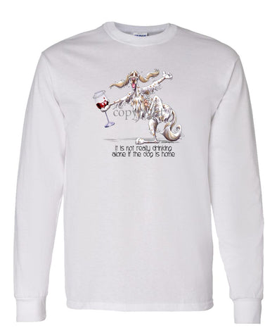 English Setter - It's Drinking Alone 2 - Long Sleeve T-Shirt