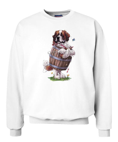 Saint Bernard - Standing In Barrel - Caricature - Sweatshirt