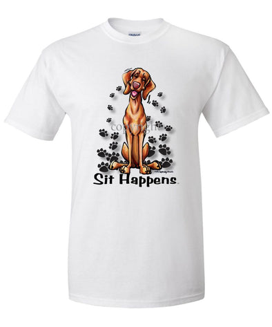 Vizsla - Sit Happens - T-Shirt