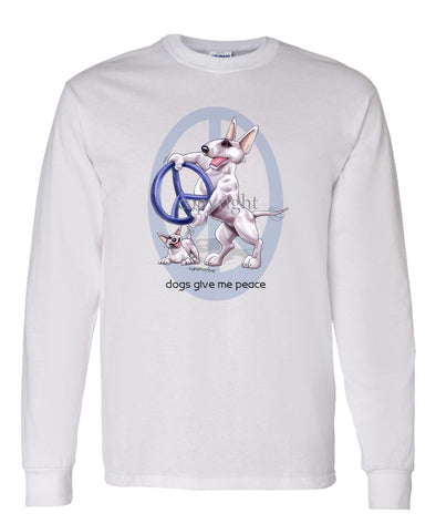 Bull Terrier - Peace Dogs - Long Sleeve T-Shirt