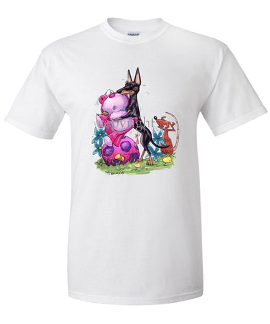 Manchester Terrier - With Toys - Caricature - T-Shirt