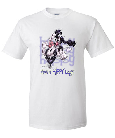 English Springer Spaniel - Who's A Happy Dog - T-Shirt