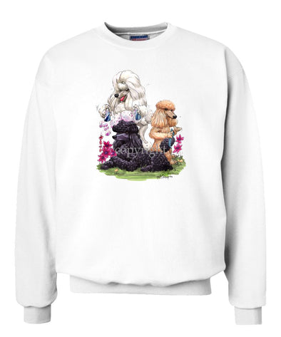 Poodle - Group Hair Spray - Caricature - Sweatshirt