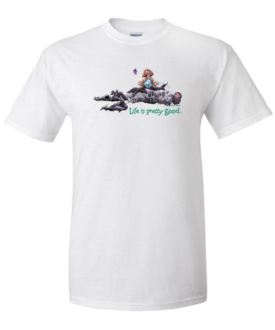 English Cocker Spaniel - Life Is Pretty Good - T-Shirt