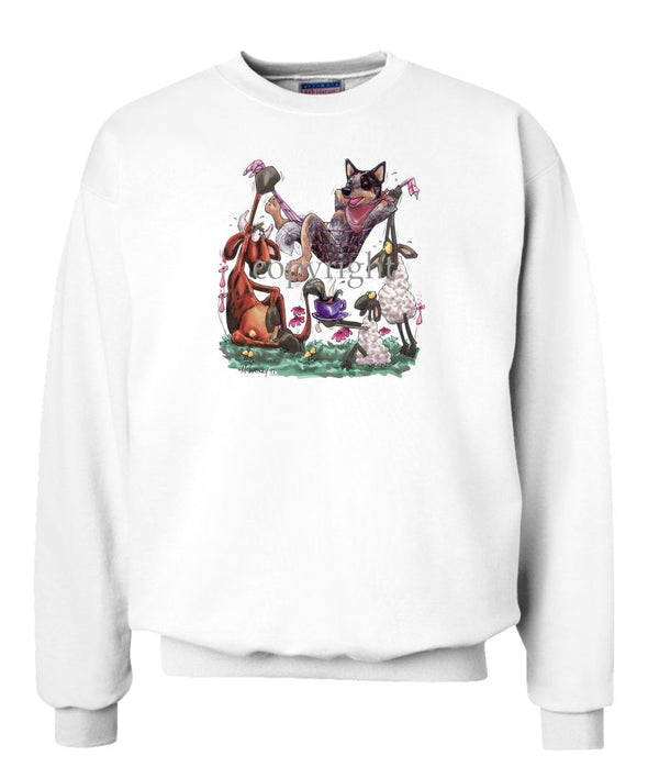 Australian Cattle Dog - Hammock - Caricature - Sweatshirt