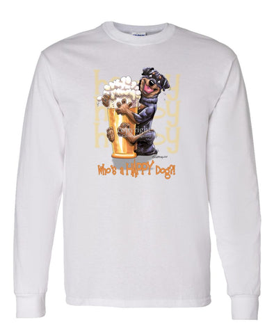 Rottweiler - Who's A Happy Dog - Long Sleeve T-Shirt