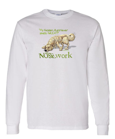 Golden Retriever - Nosework - Long Sleeve T-Shirt