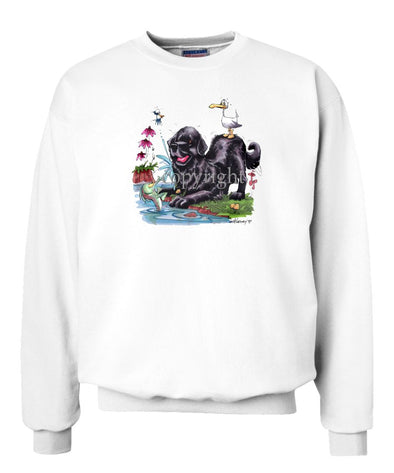 Newfoundland - Seagull On Back - Caricature - Sweatshirt