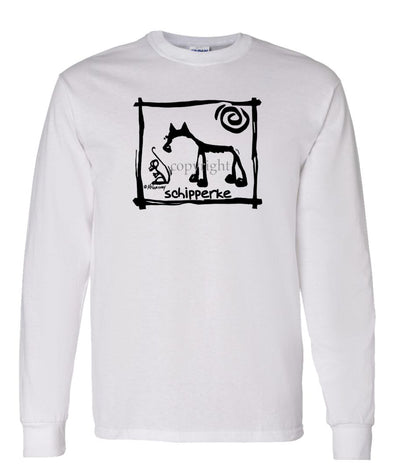 Schipperke - Cavern Canine - Long Sleeve T-Shirt