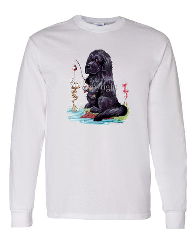 Newfoundland - Fishing - Caricature - Long Sleeve T-Shirt