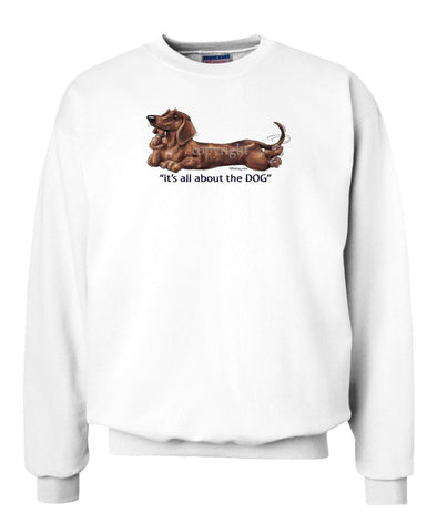 Dachshund  Smooth - All About The Dog - Sweatshirt