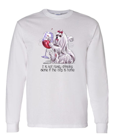 Maltese - It's Not Drinking Alone - Long Sleeve T-Shirt