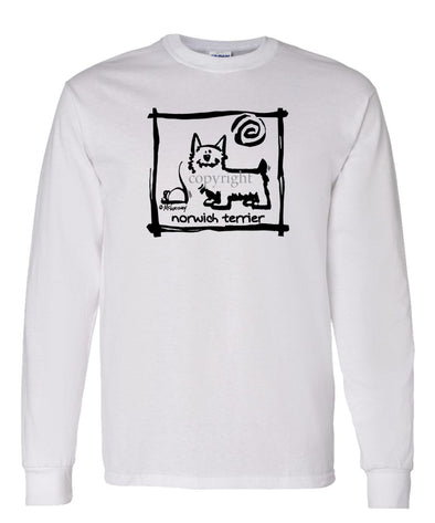 Norwich Terrier - Cavern Canine - Long Sleeve T-Shirt