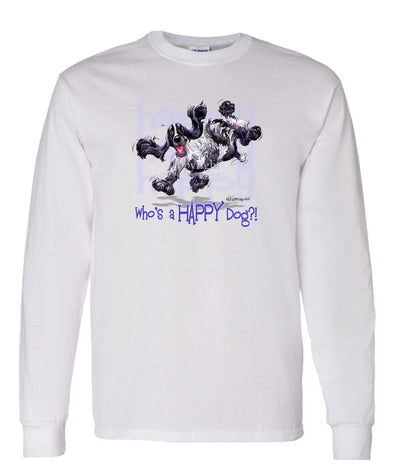 English Cocker Spaniel - Who's A Happy Dog - Long Sleeve T-Shirt