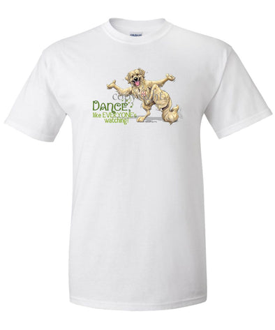 Golden Retriever - Dance Like Everyones Watching - T-Shirt