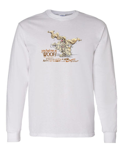 Cocker Spaniel - You Had Me at Woof - Long Sleeve T-Shirt