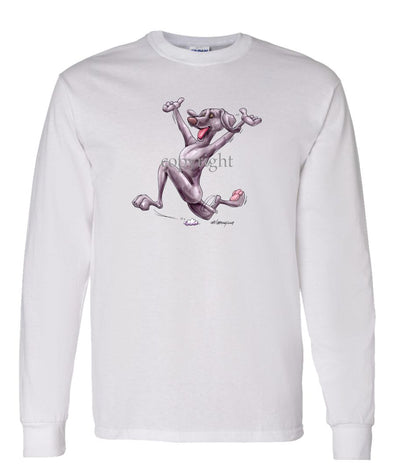 Weimaraner - Happy Dog - Long Sleeve T-Shirt