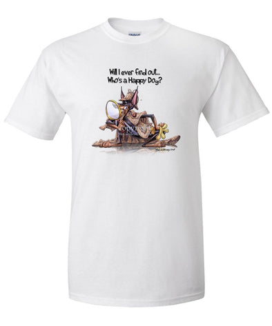 Doberman Pinscher - 2 - Who's A Happy Dog - T-Shirt