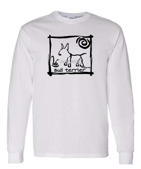 Bull Terrier - Cavern Canine - Long Sleeve T-Shirt