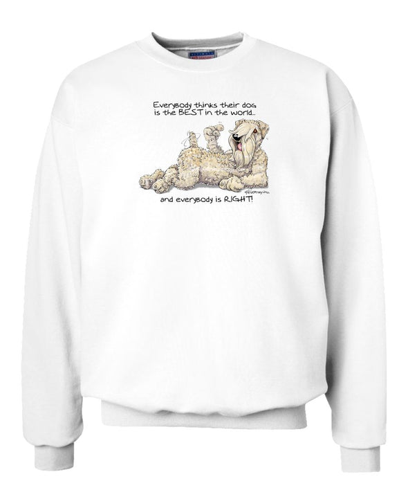 Soft Coated Wheaten - Best Dog in the World - Sweatshirt