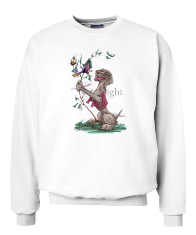 Weimaraner - Shaking Cookoo Bird - Caricature - Sweatshirt