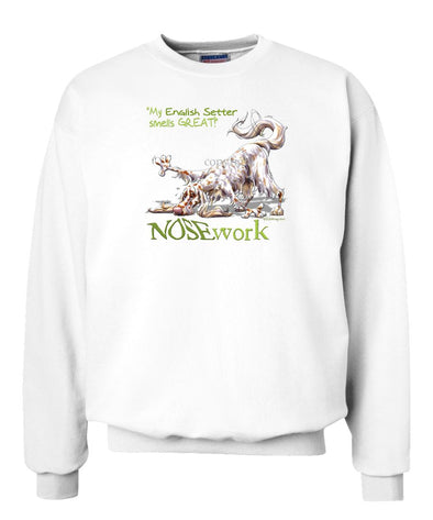 English Setter - Nosework - Sweatshirt