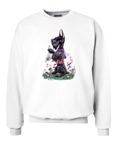 Giant Schnauzer - Mice Staking Down - Caricature - Sweatshirt