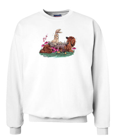 Dachshund  Longhaired - Hollow Log - Caricature - Sweatshirt