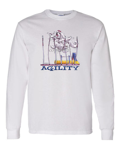 Maltese - Agility Weave II - Long Sleeve T-Shirt