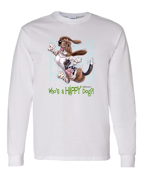 Basset Hound - Who's A Happy Dog - Long Sleeve T-Shirt