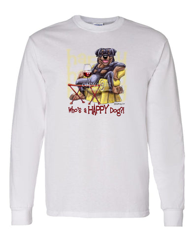 Rottweiler - 2 - Who's A Happy Dog - Long Sleeve T-Shirt