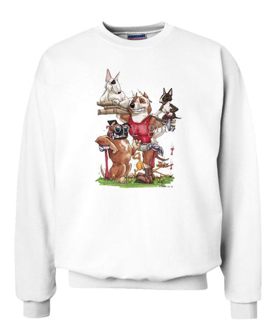 American Staffordshire Terrier - Group Construction - Caricature - Sweatshirt