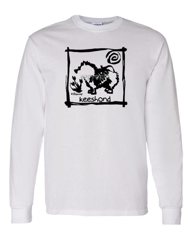 Keeshond - Cavern Canine - Long Sleeve T-Shirt