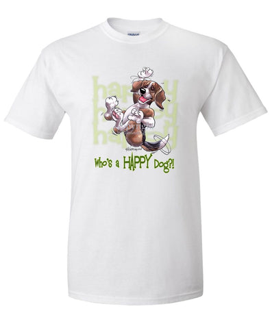 Beagle - Who's A Happy Dog - T-Shirt