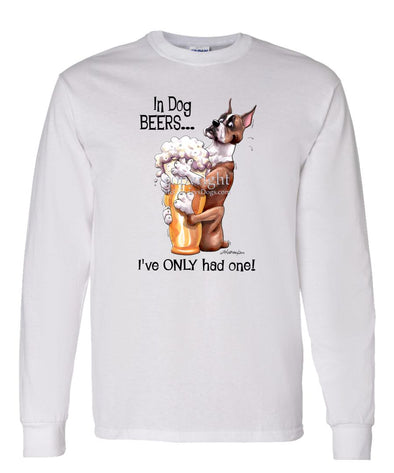 Boxer - Dog Beers - Long Sleeve T-Shirt