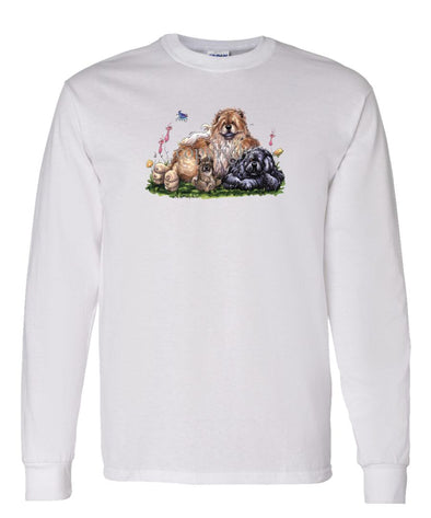 Chow Chow - Group - Caricature - Long Sleeve T-Shirt