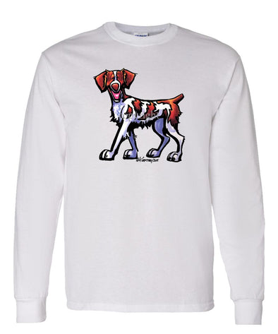 Brittany - Cool Dog - Long Sleeve T-Shirt