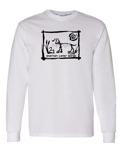 American Water Spaniel - Cavern Canine - Long Sleeve T-Shirt