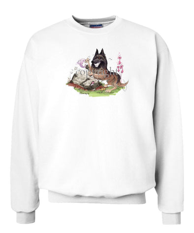 Belgian Tervuren - Tickling Sheep - Caricature - Sweatshirt